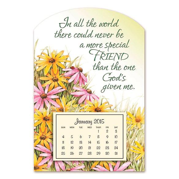 Mini Magnetic Daisies Calendar