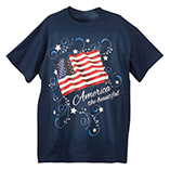 Stars and stripes T-Shirt, Small, Navy Blue