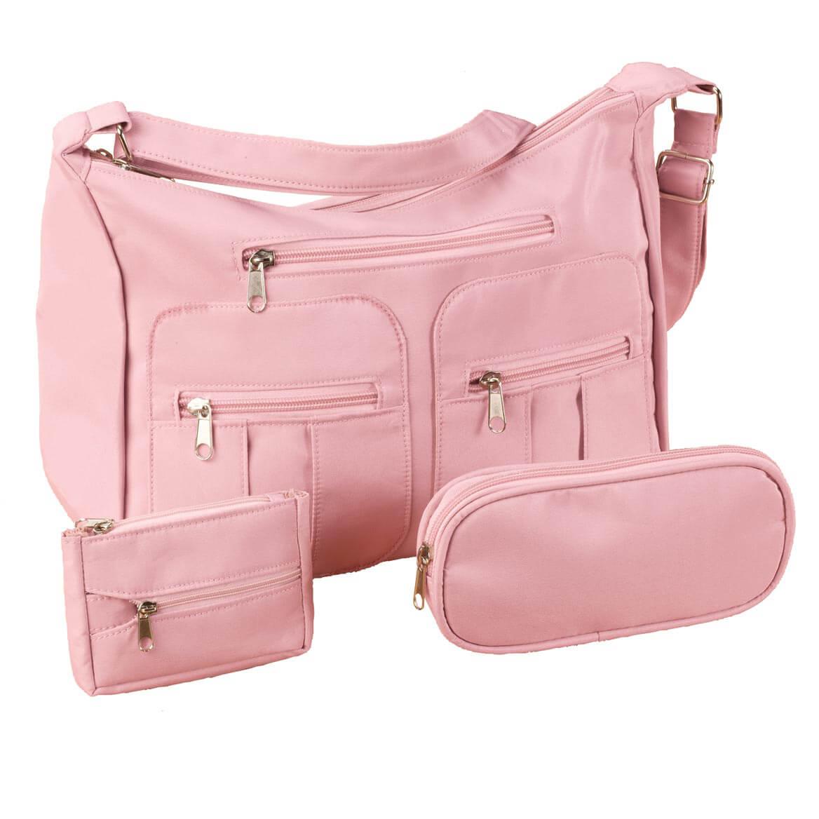 Microfiber 3-Piece Handbag Set