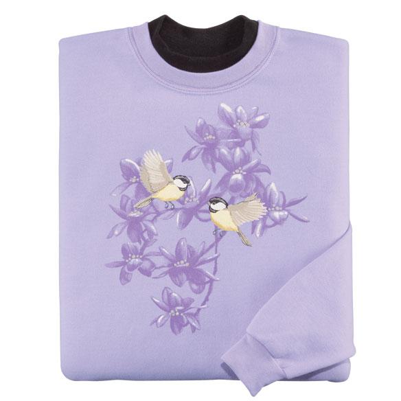 Flying Chickadees Pair Sweatshirt