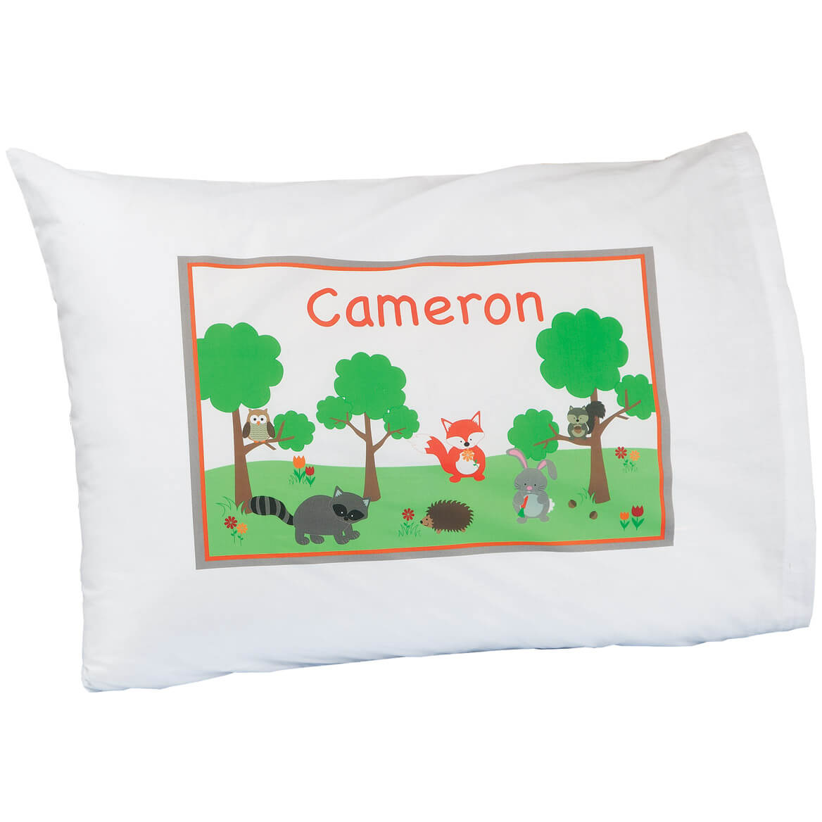 Personalized Woodland Creatures Pillowcase