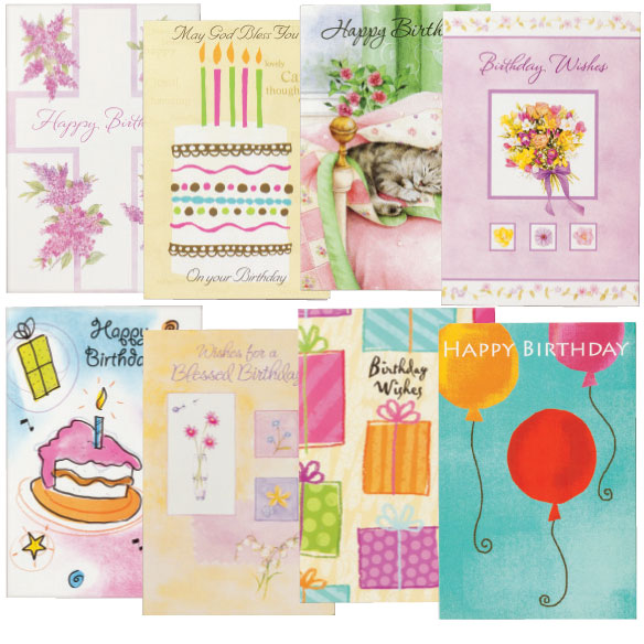 Birthday Cards Set of 24