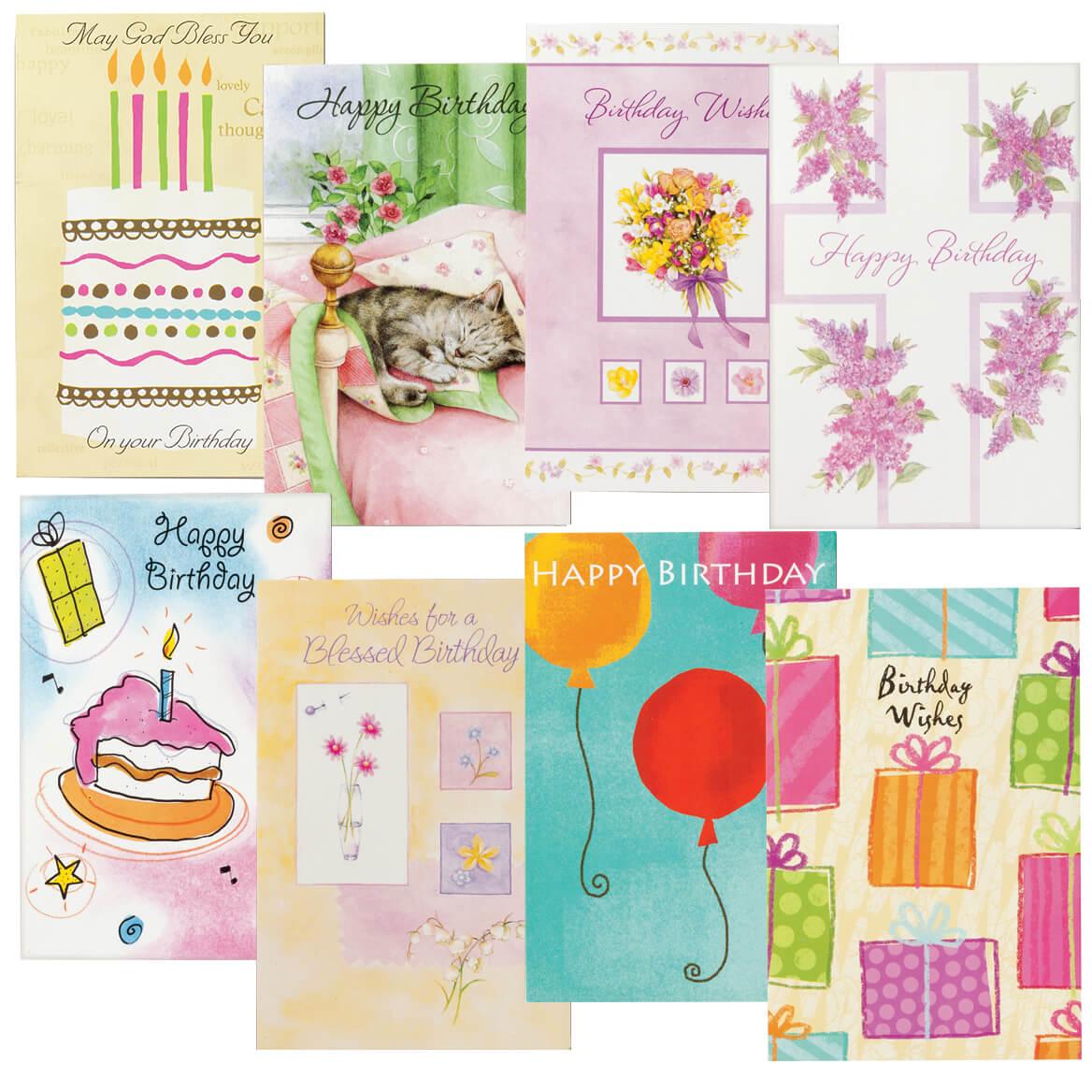 Birthday Cards Set of 24