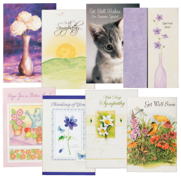 Sympathy & Encouragement Cards Set of 24 - View 1