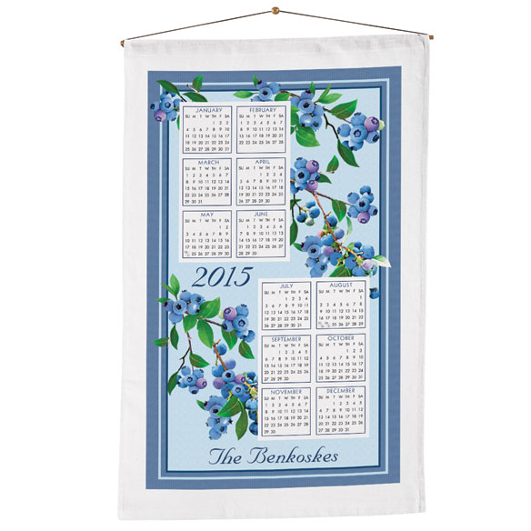 Personalized Blueberry Calendar Towel