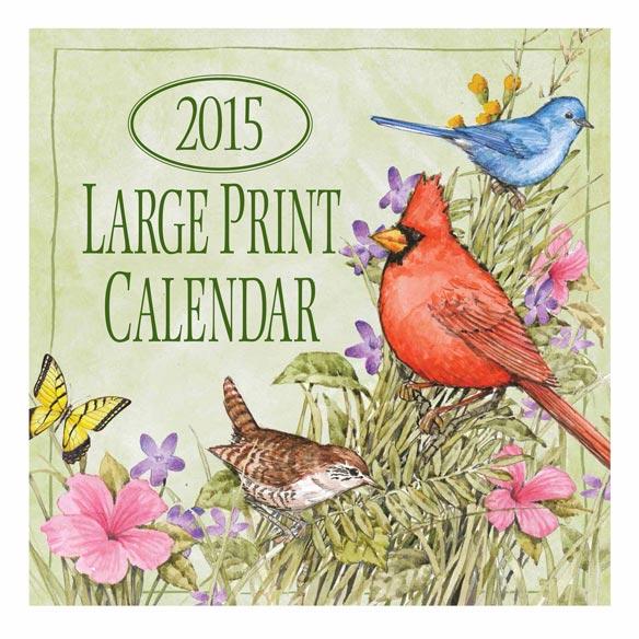 Large Print Bird Calendar