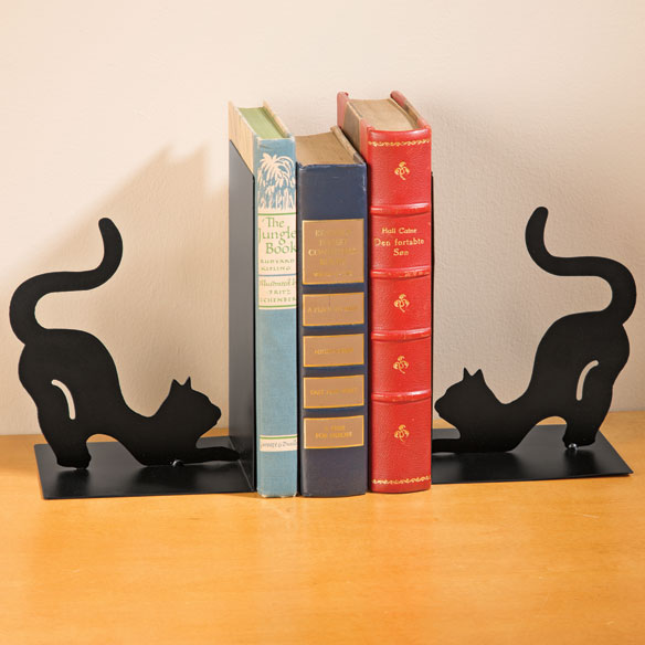 Cat Metal Bookends - View 1