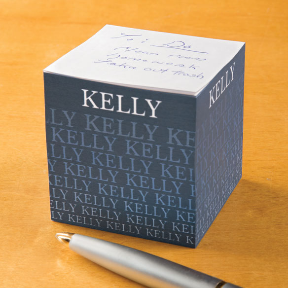 Personalized Fading Name Self-Stick Note Cube