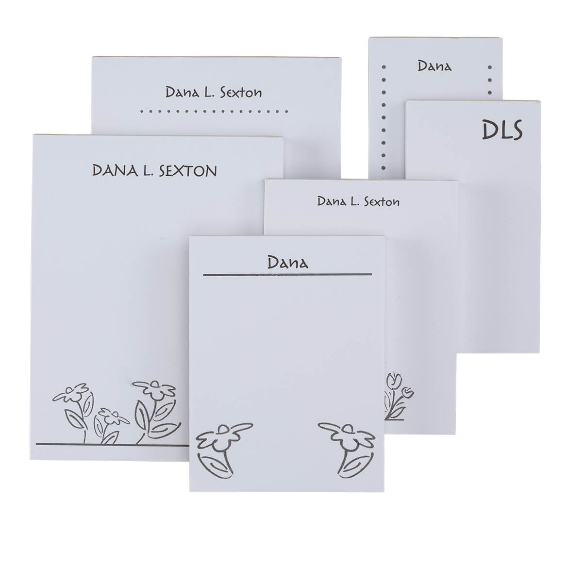 Personalized Flower Notepad Refill, Set of 6-349458