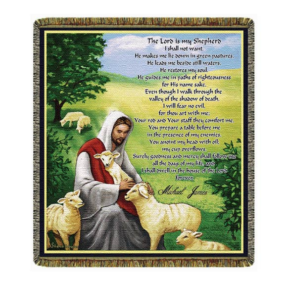 Personalized The Lord Is My Shepherd Afghan