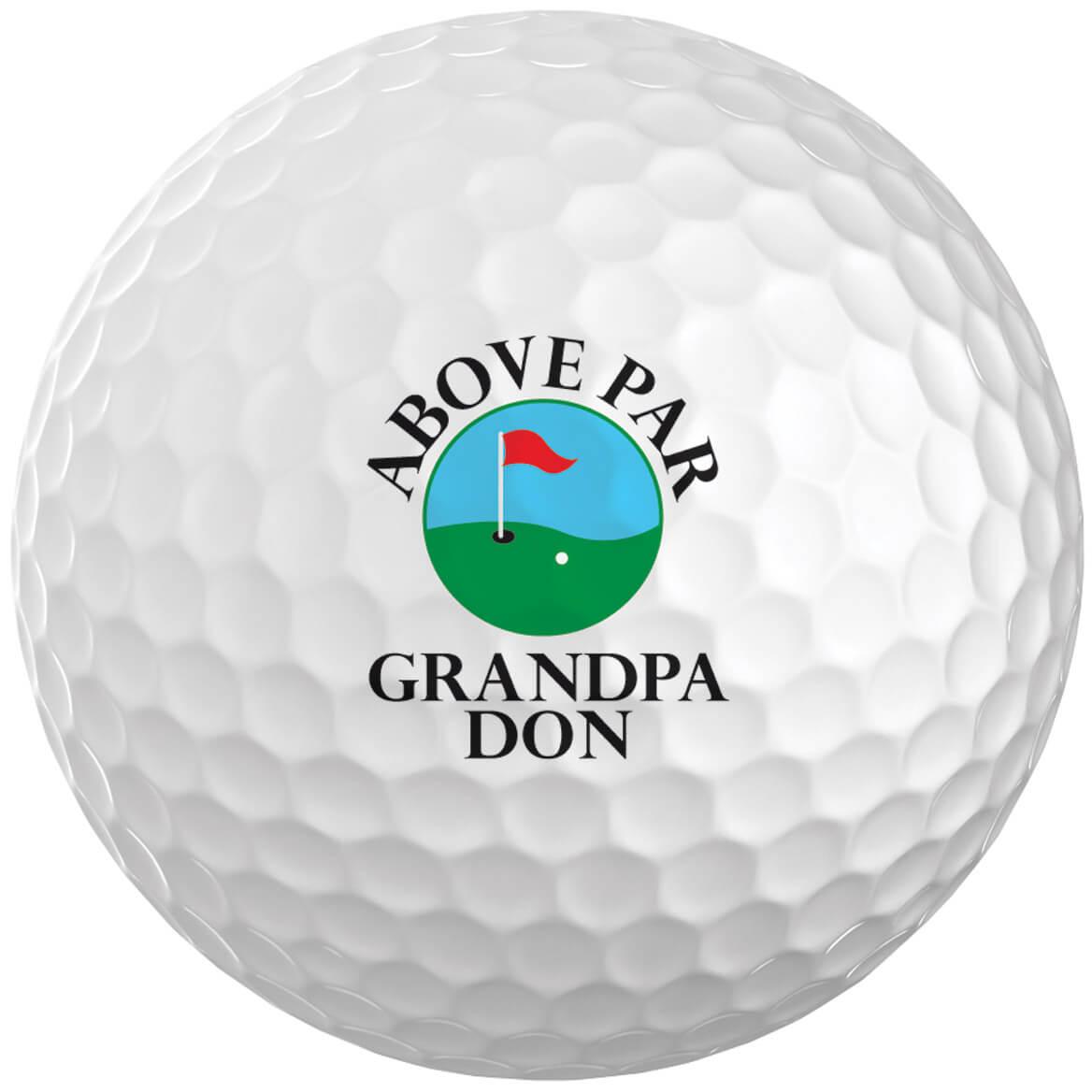 Personalized Above Par Golf Balls Set of 6