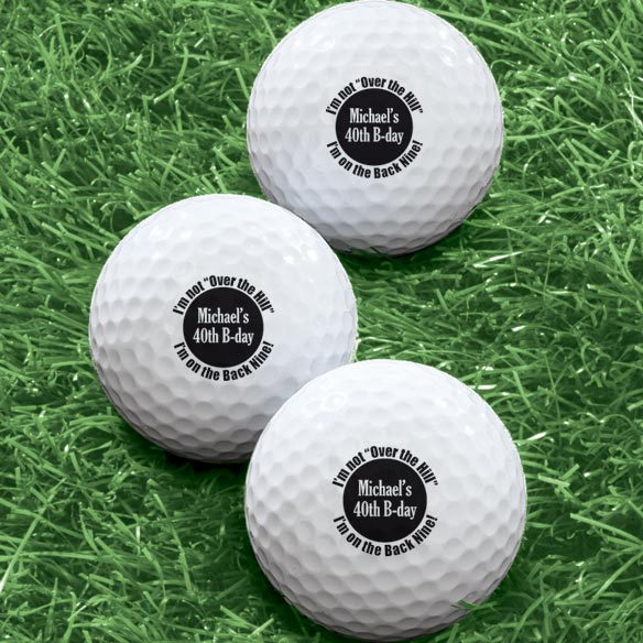 Personalized Over The Hill Golf Balls - Set of 6