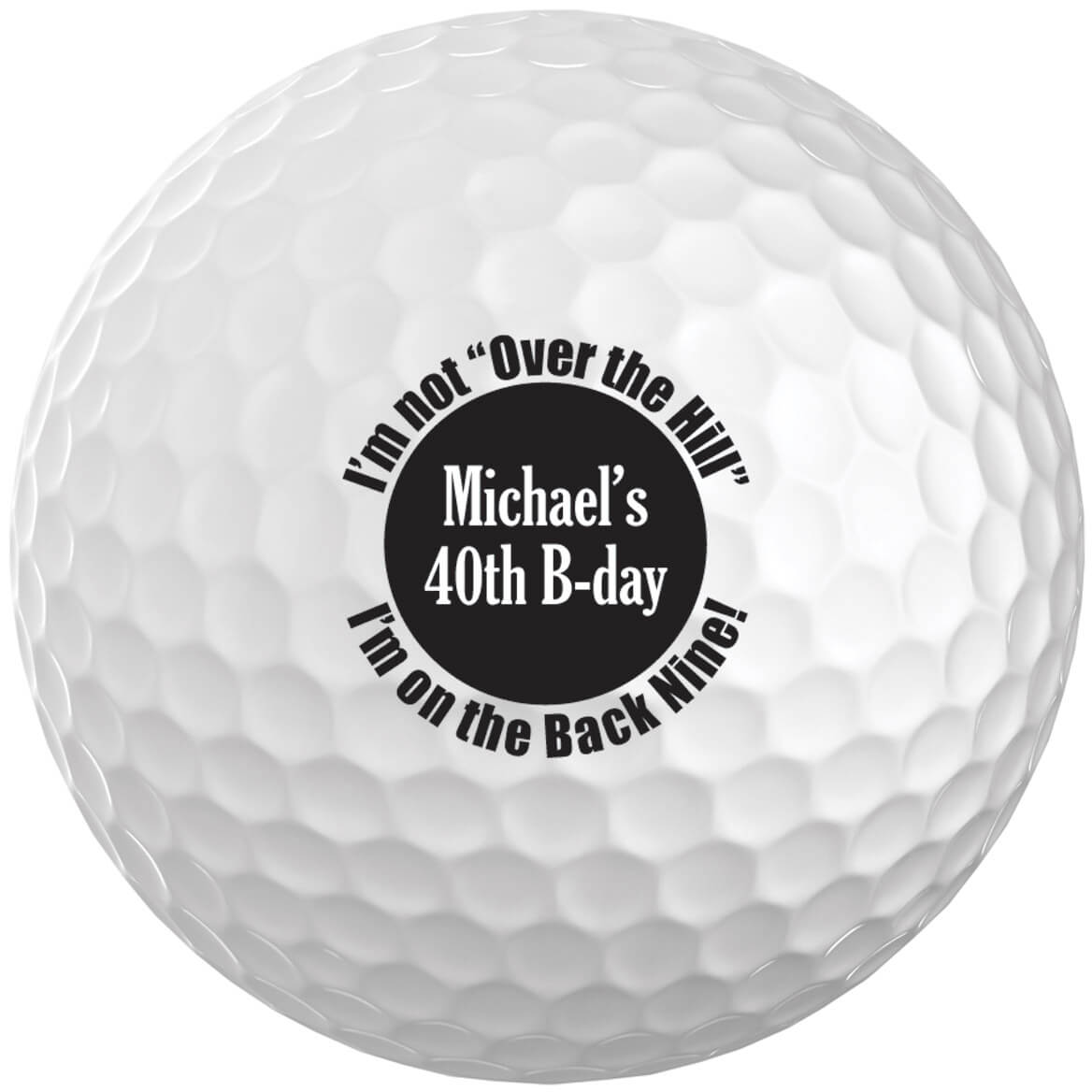 Personalized Over the Hill Golf Balls, Set of 6