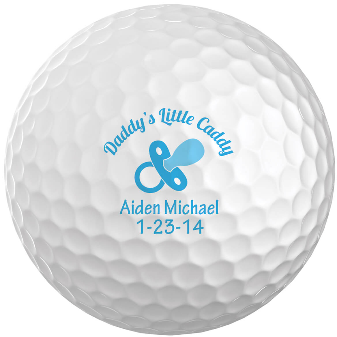 Personalized Daddy's Little Caddy Golf Balls, Set of 6