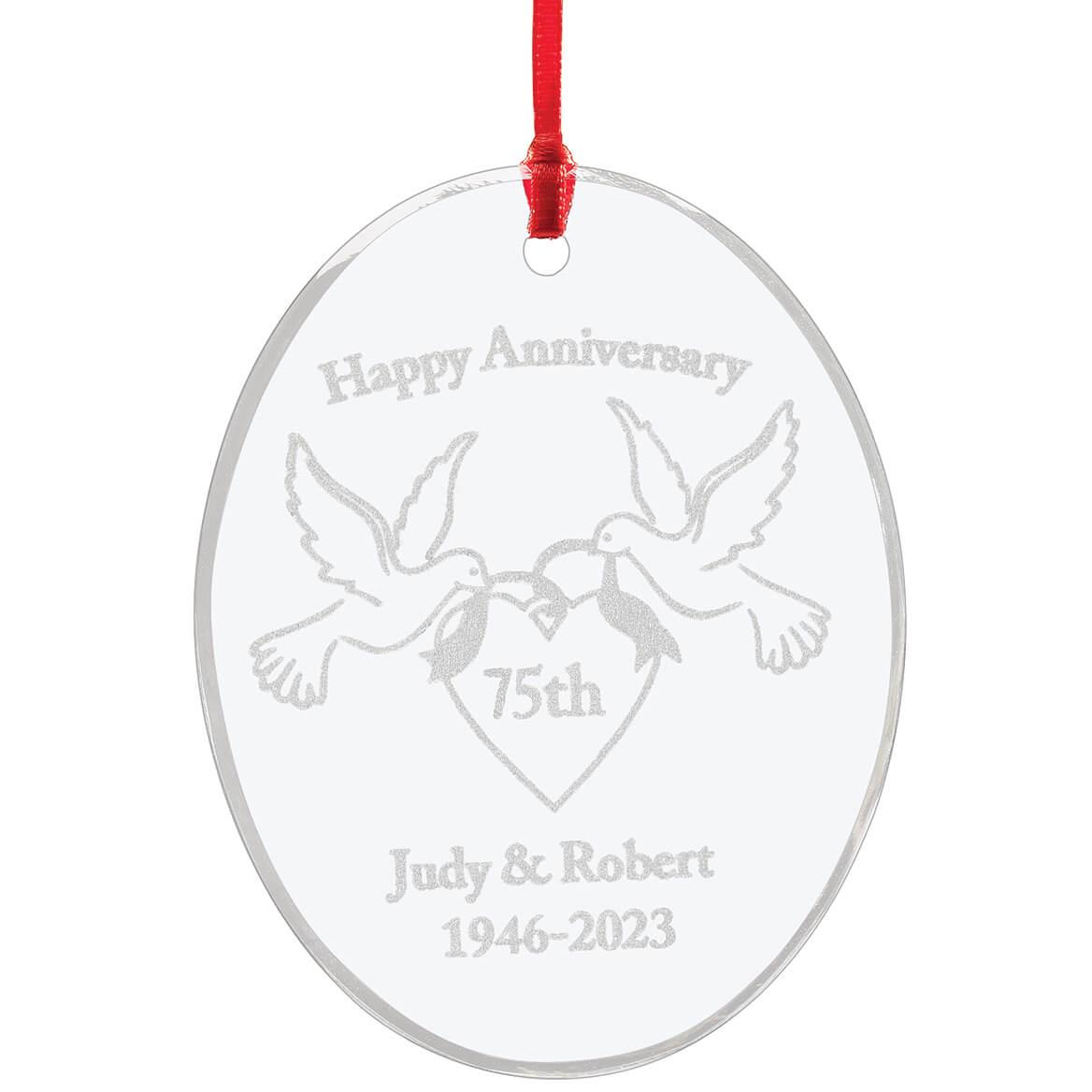 Personalized Glass Anniversary Ornament-349936