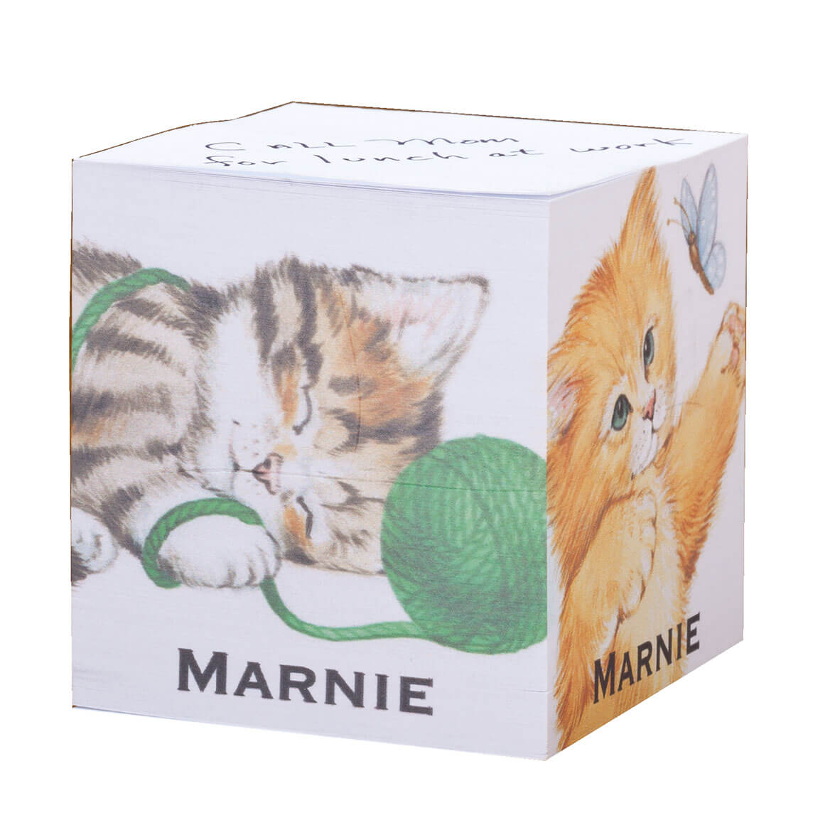 Personalized Kittens Self Stick Note Cube