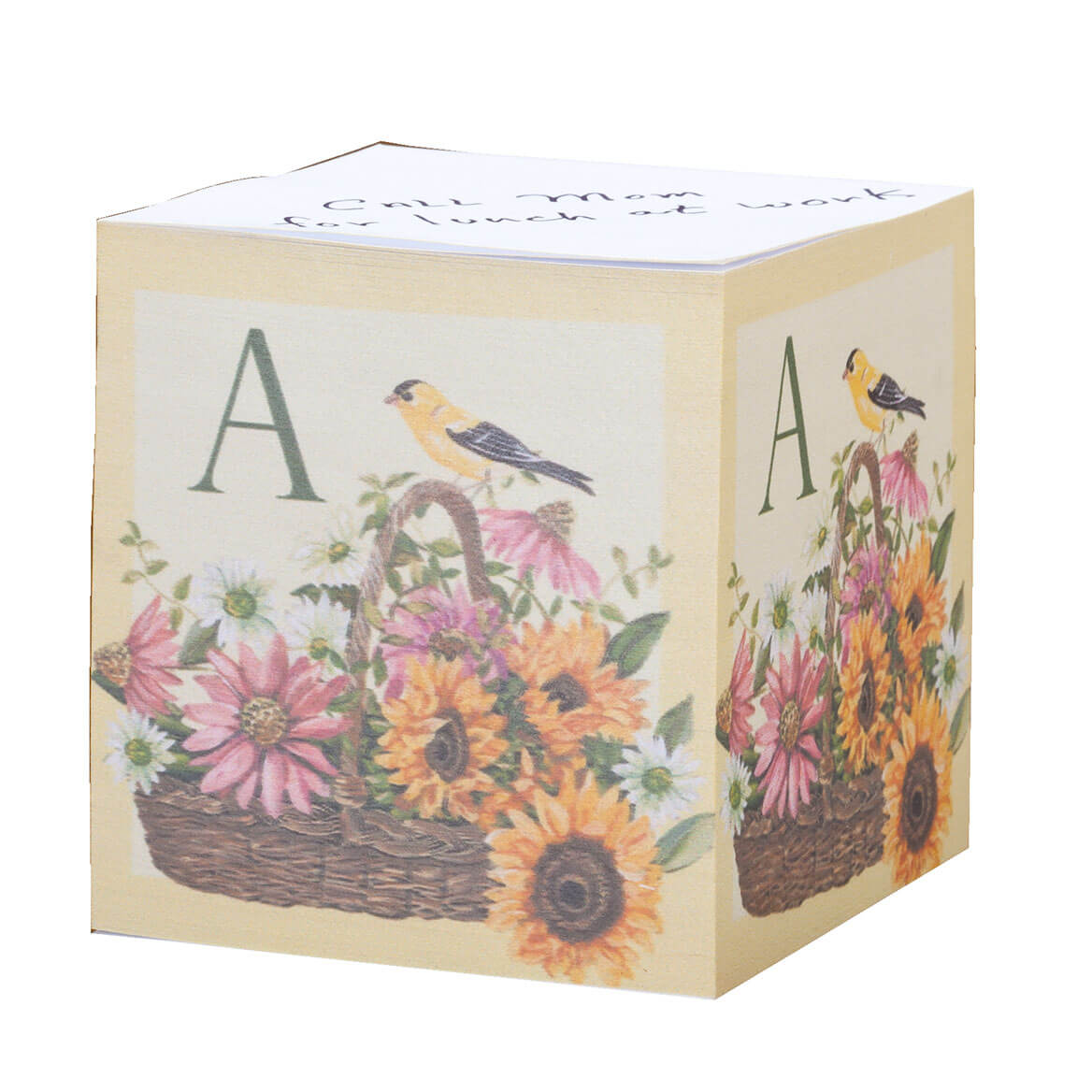 Personalized Finch Self Stick Note Cube