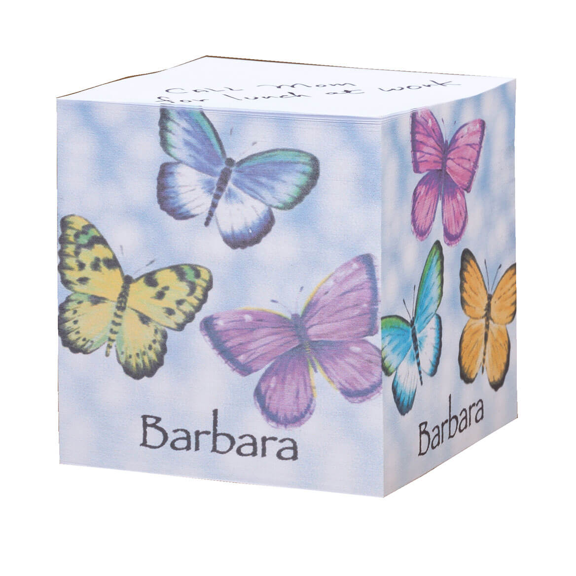 Personalized Butterflies Self Stick Note Cube