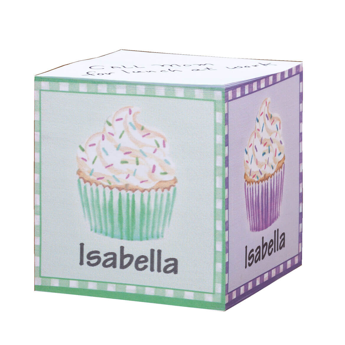 Personalized Cupcake Self Stick Note Cube