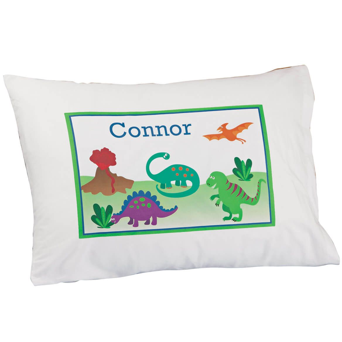 Personalized Dinosaur Pillowcase