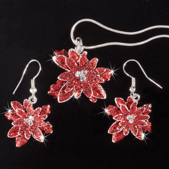 Poinsettia Jewelry Set