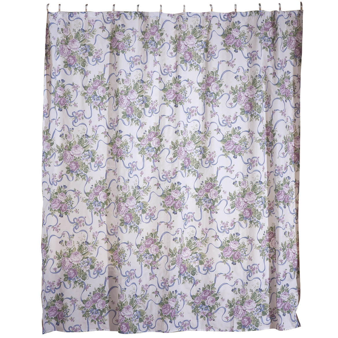 Ribbons And Roses Shower Curtain Set