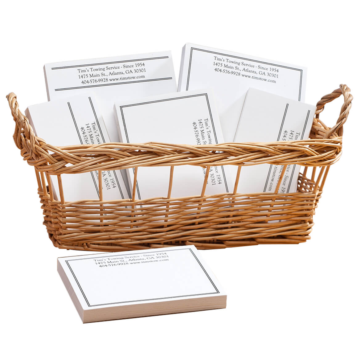 Personalized Classic Business Basketful of Notepads-350386
