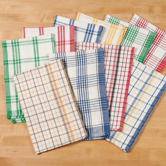 unquie's shop Plaid Kitchen Towels - Set of 10