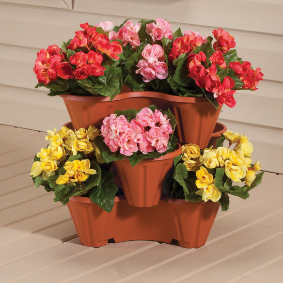 Stackable Planters, Set of 3