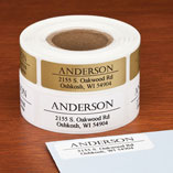 Bold and Centered Address Labels, 250, Gold