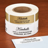 Elegant and Centered Address Labels, 250, Gold