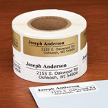 Off-Centered Address Labels, 250, Gold
