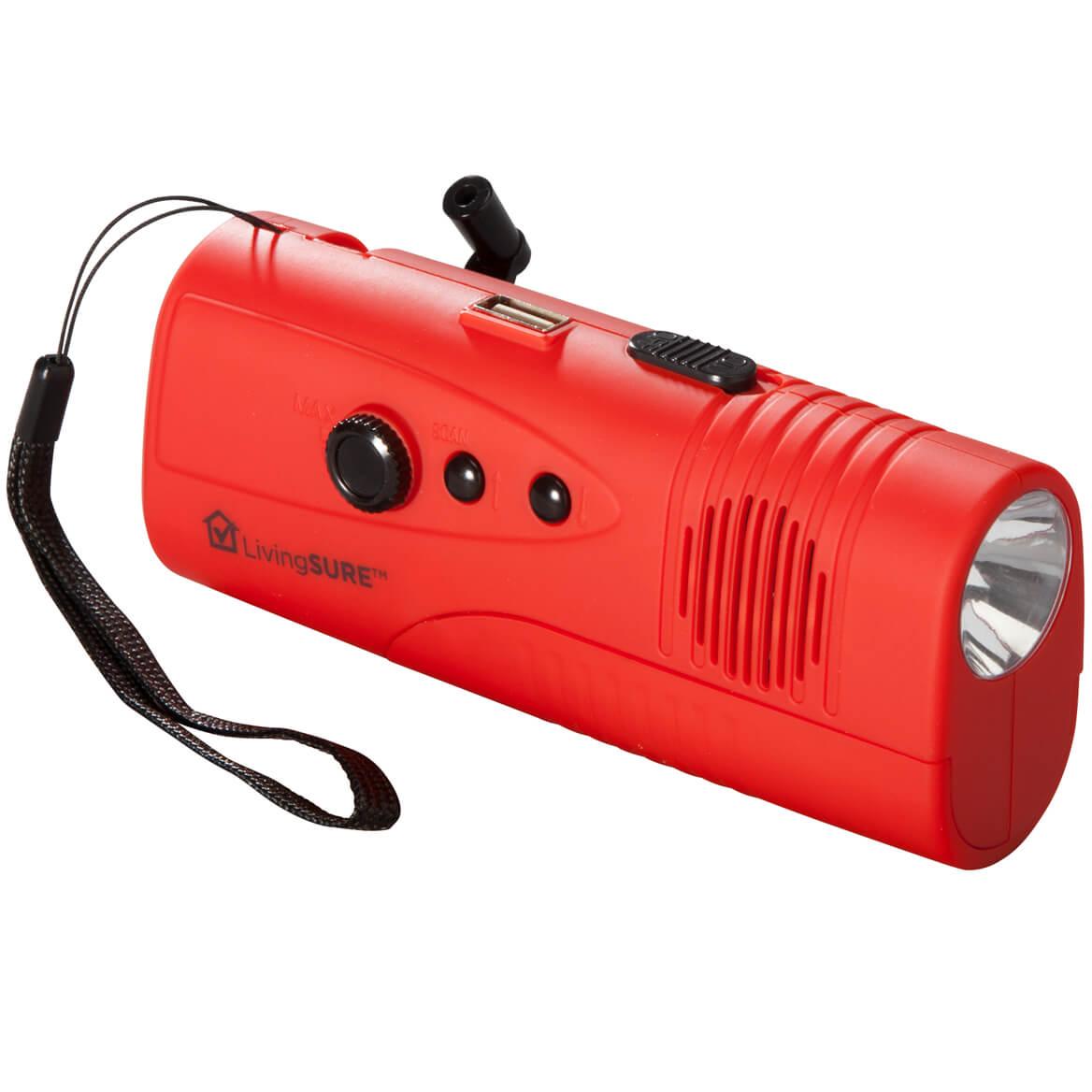 LivingSURE™ Emergency Flashlight Radio Deluxe