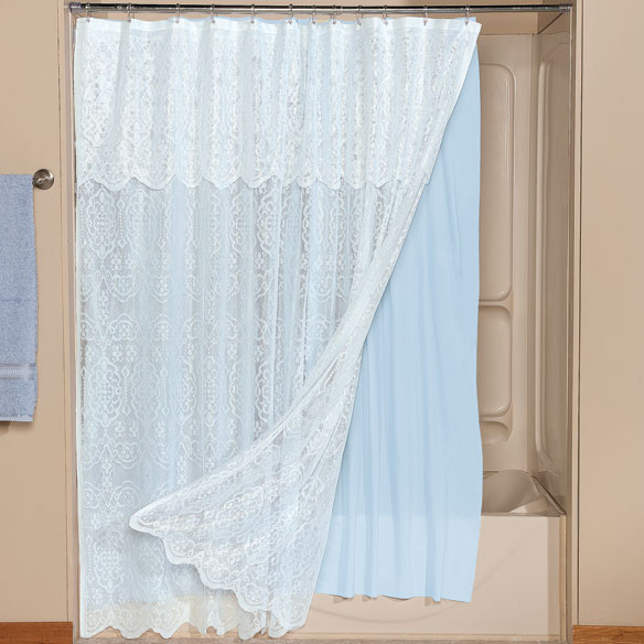 Freestanding Bath Shower Curtain 63 Curtains with Attached Vala