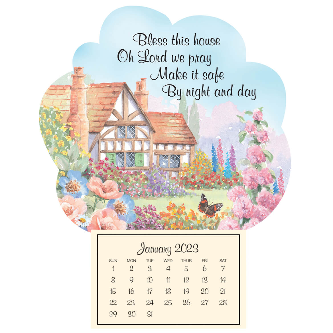Mini Magnetic Calendar Bless This House-351850