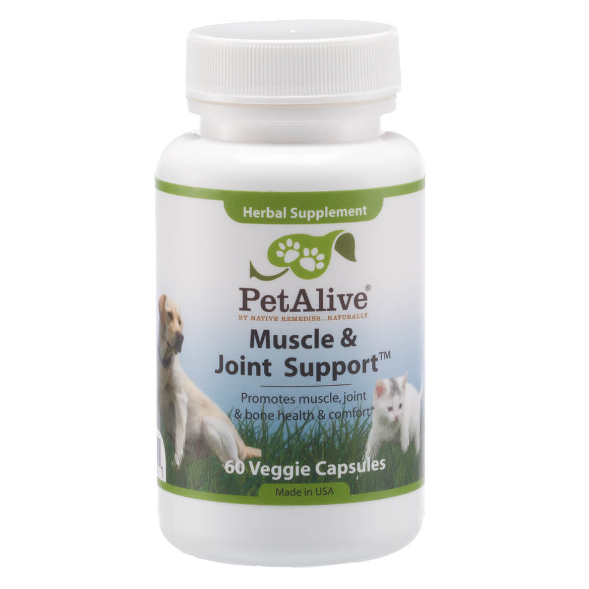 PetAlive® Muscle and Joint Support™ - 60 Veggie Capsules-351882