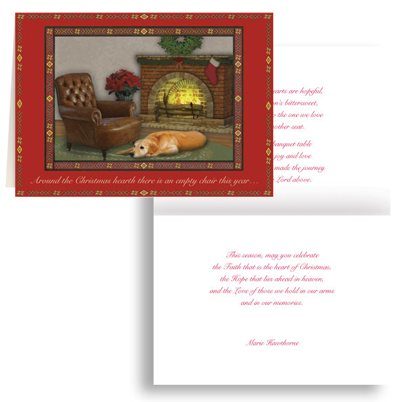 The Empty Chair Personalized Christmas Card