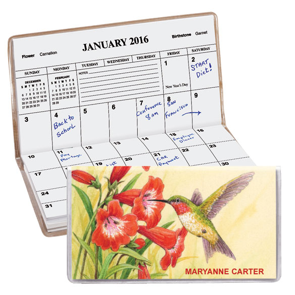 personalized 2-year hummingbird planner