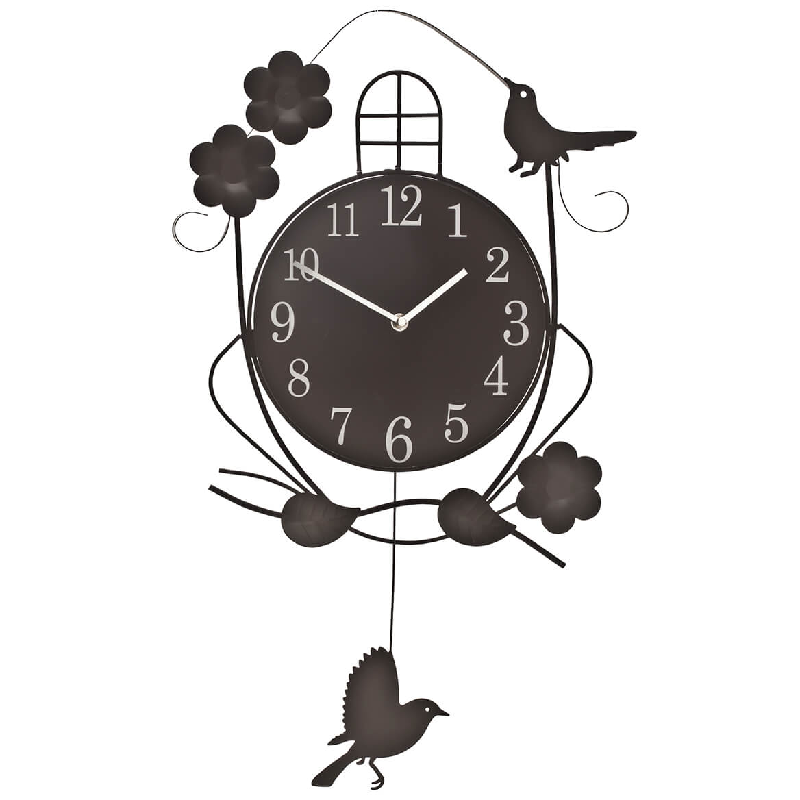 Atomic Swinging Bird Pendulum Clock