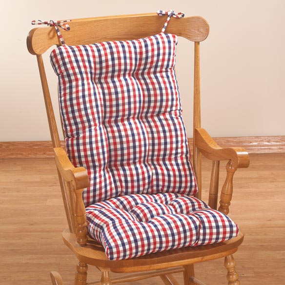 Sherpa Rocking Chair Cushion Set - Rocking Chair Pads - Miles Kimball