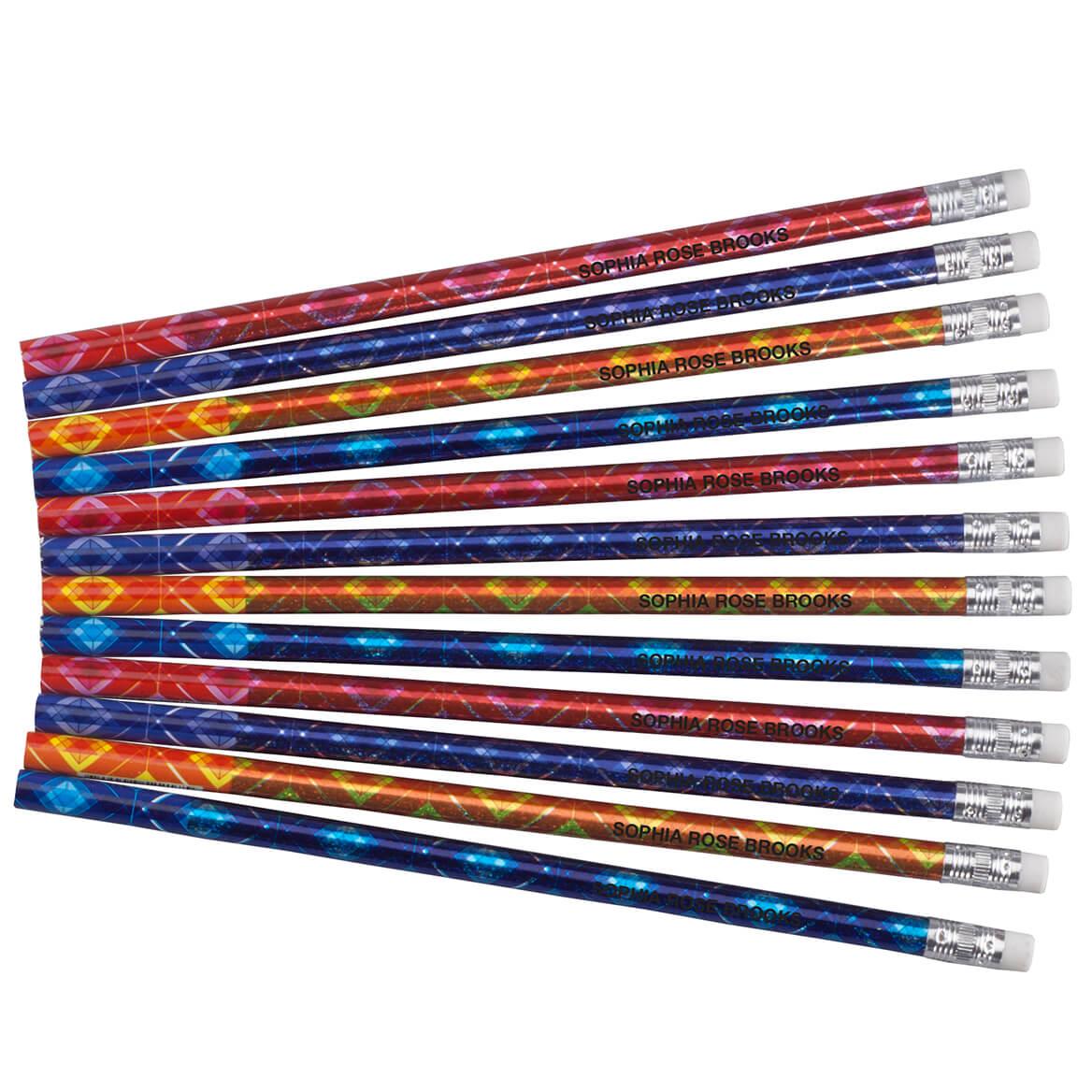 Personalized Bedazzled Glitz Pencils Set Of 12
