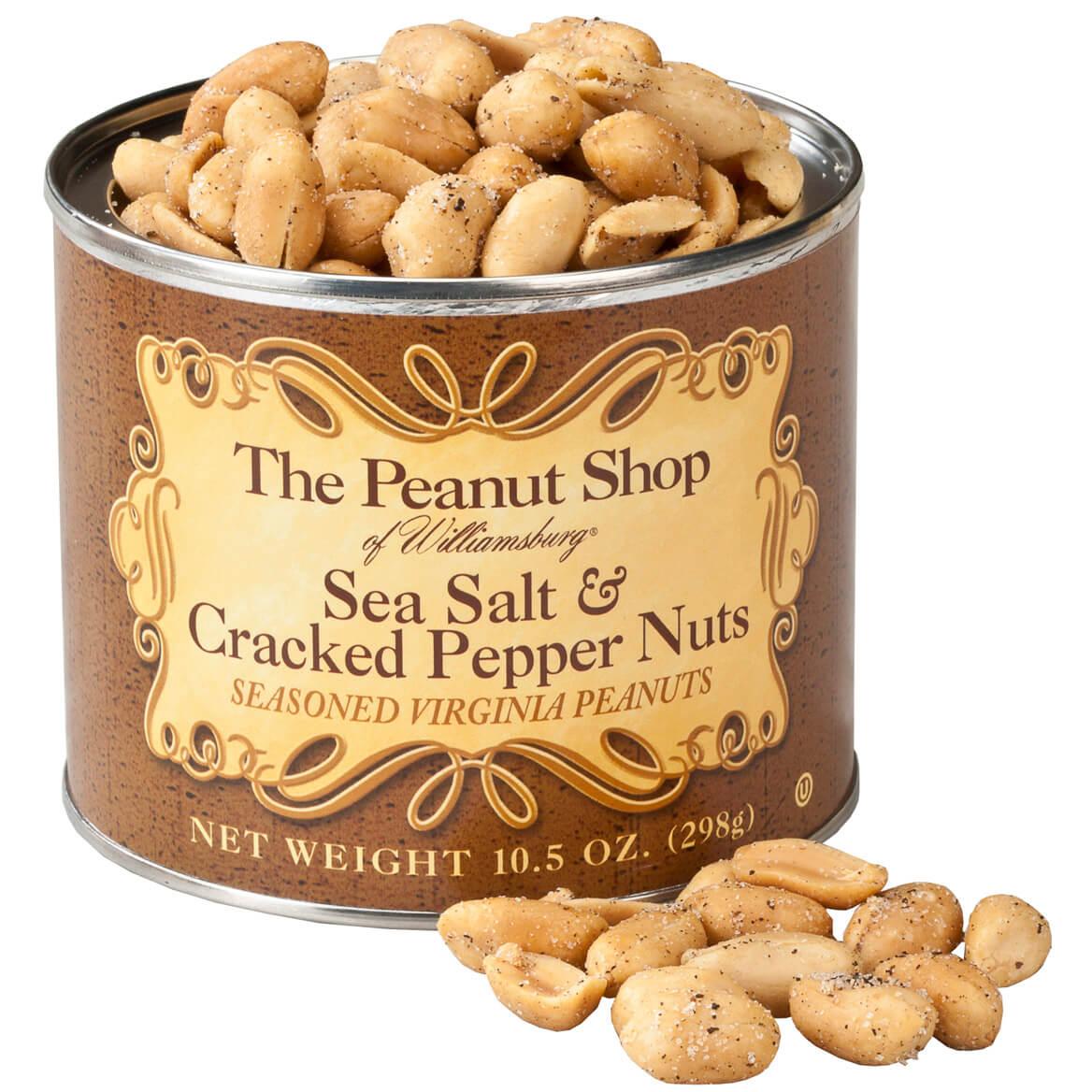 The Peanut Shop® Sea Salt & Cracked Pepper Peanuts, 10.5oz.