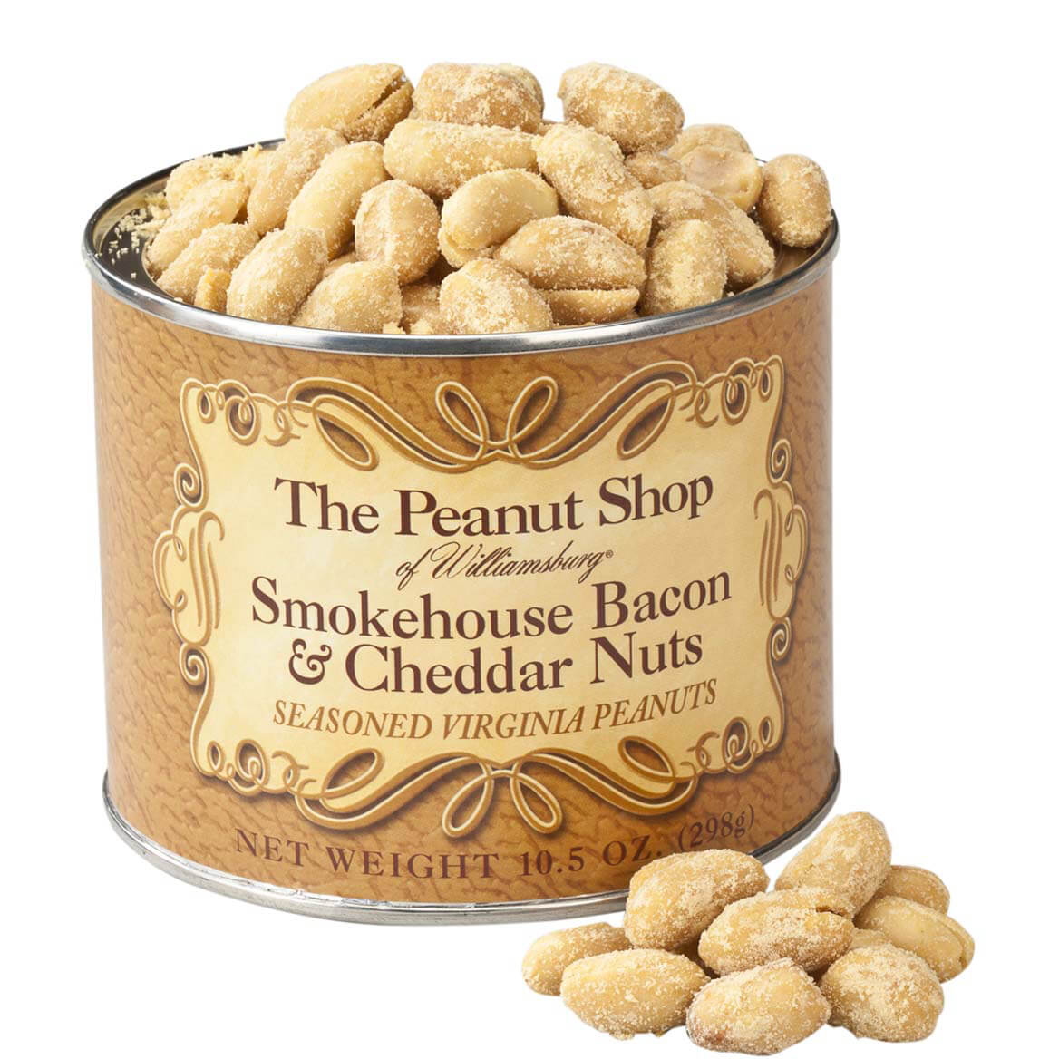 The Peanut Shop® Smokehouse Bacon & Cheddar Peanuts, 10.5oz.