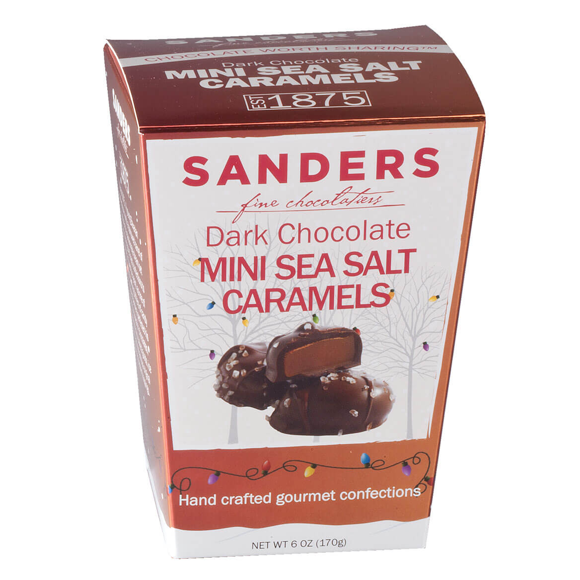 Sanders® Dark Chocolate Mini Sea Salt Caramels, 6 oz.