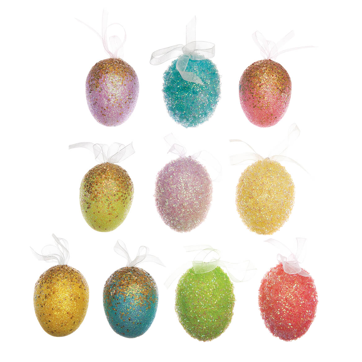 Easter Egg Ornaments, Set of 10