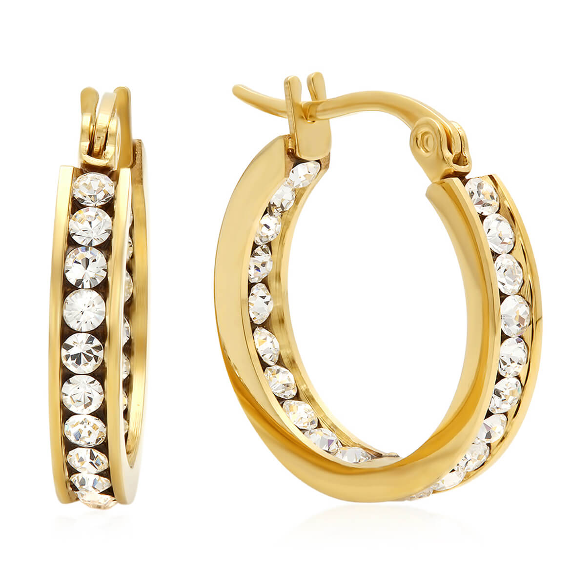 Swarovski Elements Hoop Earrings          VR
