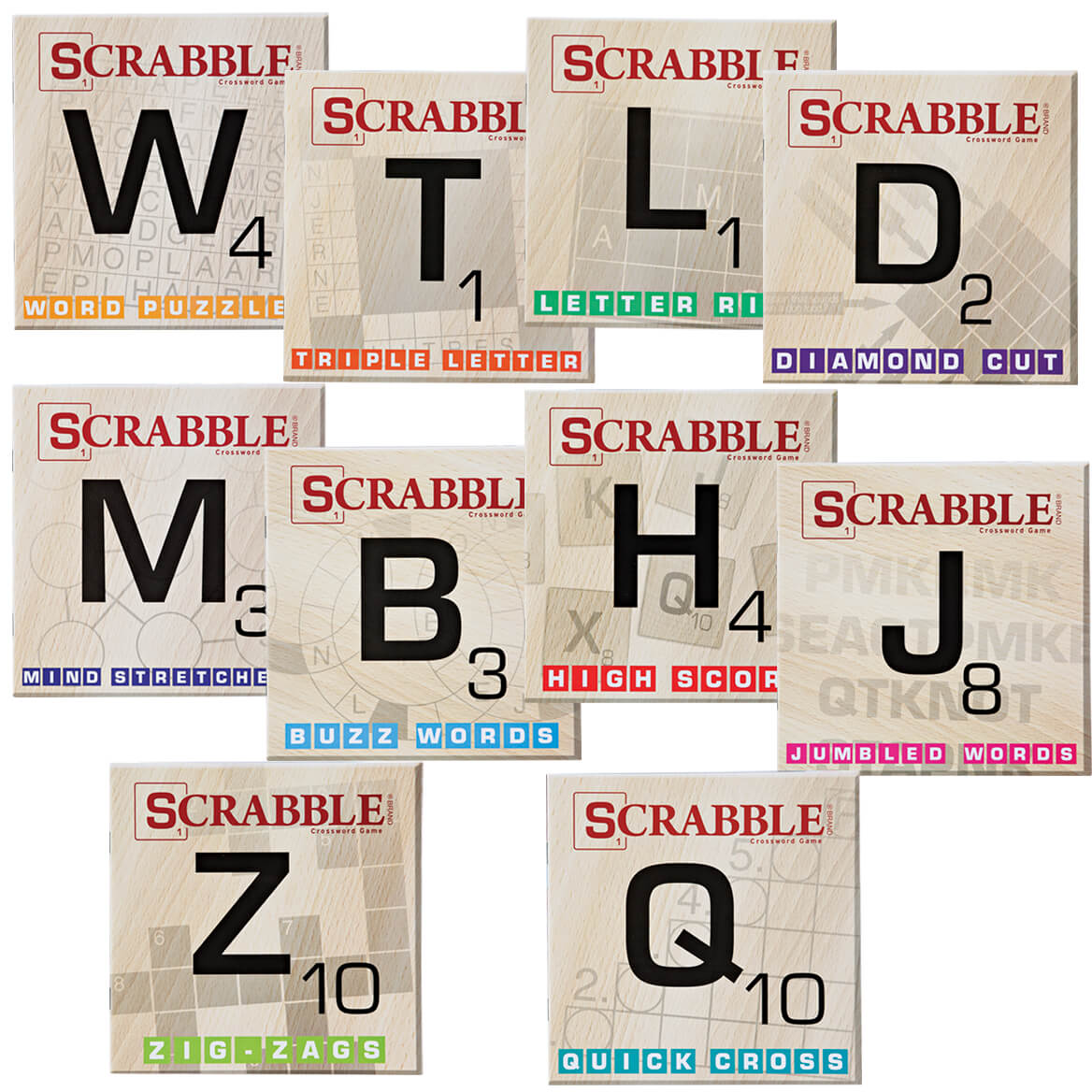 Scrabble Puzzle Books Set of 10