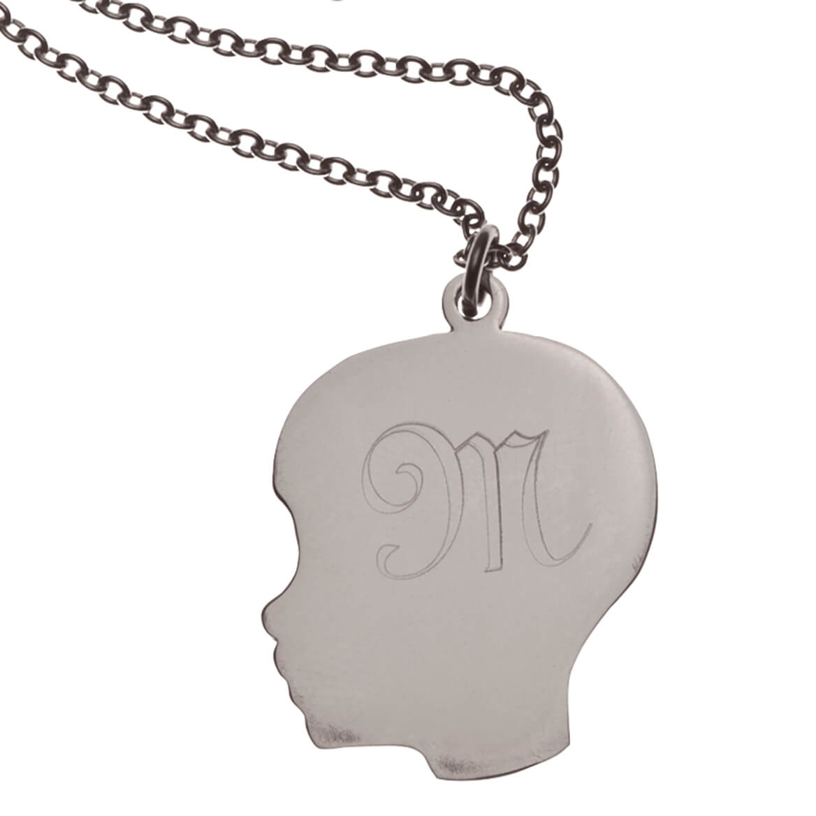 Personalized Silhouette Boy Necklace