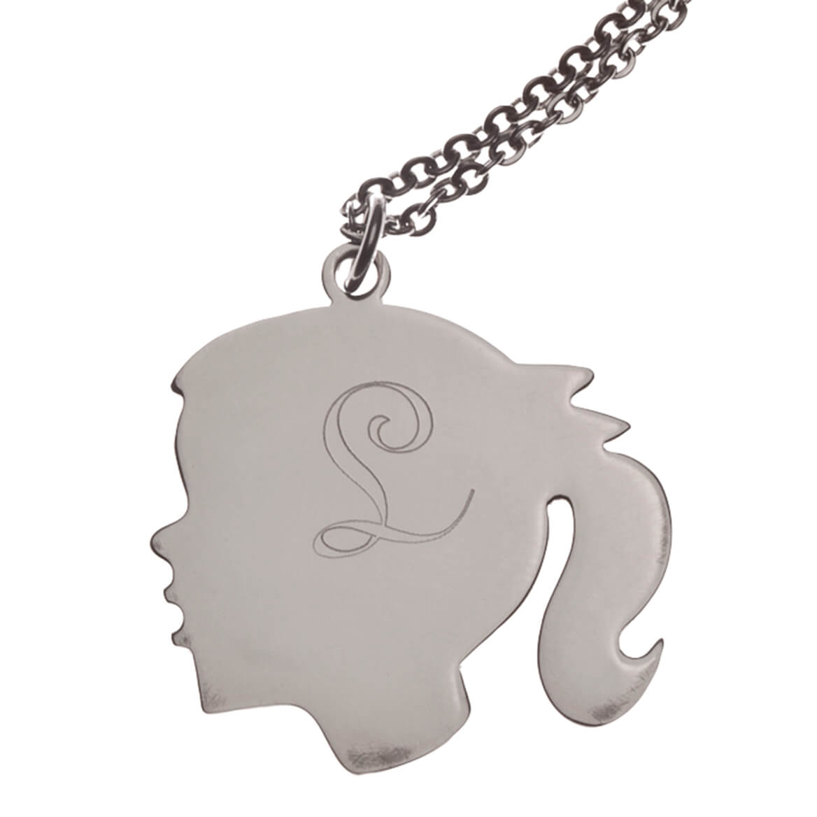 Personalized Silhouette Girl Necklace