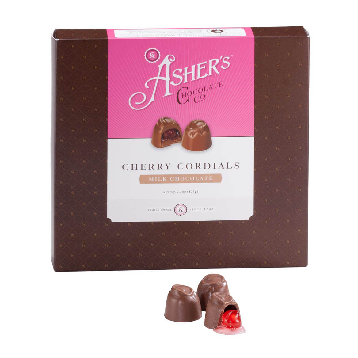 Milk Chocolate Cherry Cordial Box 6.1 oz.